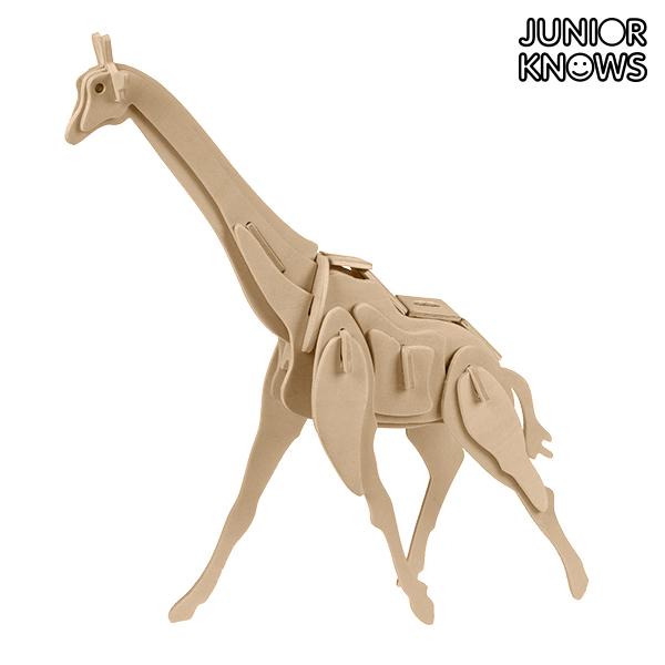 Lesene 3D Puzzle Divje Živali Junior Knows