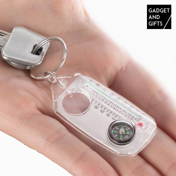 Portachiavi con Bussola, Lente d'Ingrandimento e Termometro Gadget and Gifts