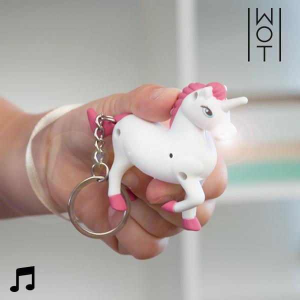 Portachiavi Unicorno con luce a LED e Suono Wagon Trend