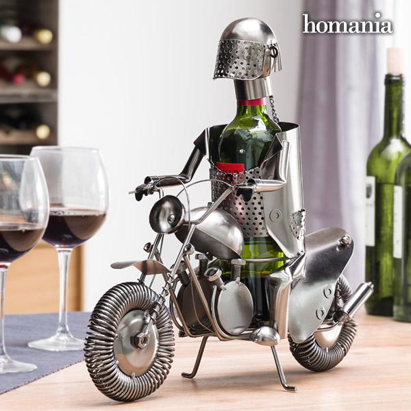 Portabottiglia in Metallo Motociclista by Homania