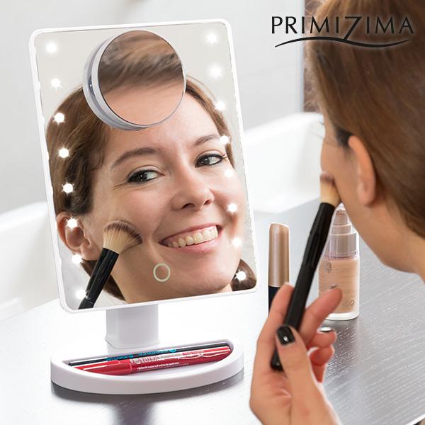 Espejo LED con Aumento para Maquillarse Primizima