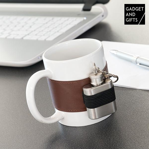 Taza Cerámica con Petaca Metálica Gadget and Gifts