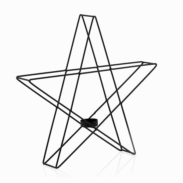 Portavelas Metálico Estrella Christmas Planet (1)