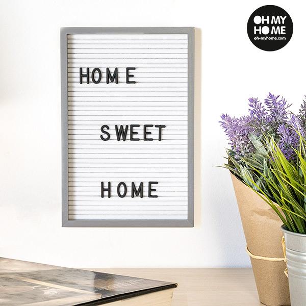 Plošča za Črke in Številke Oh My Home (16 x 22 cm)