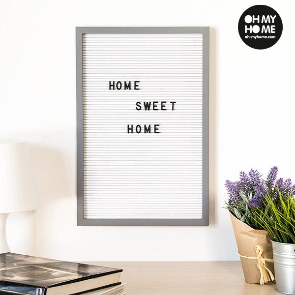 Quadro per Lettere e Numeri Oh My Home (30 x 45 cm)