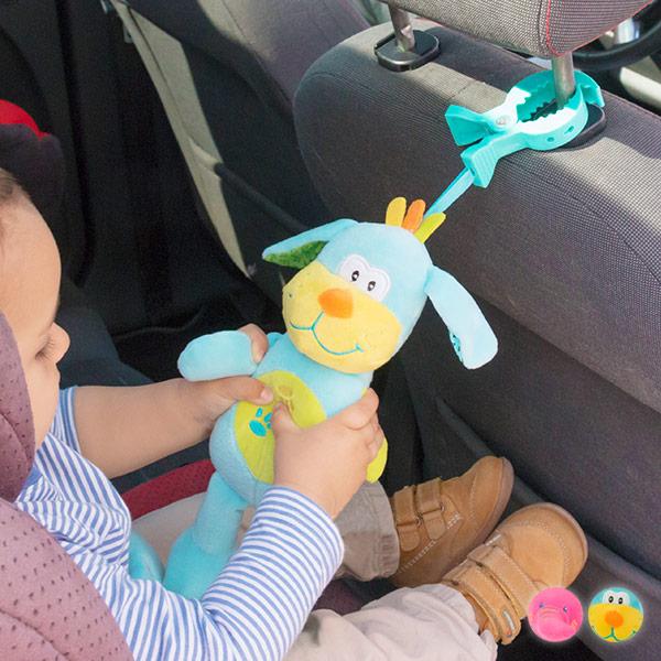 Plišasta Zvočna Igrača na Klip za Dojenčke - Pes