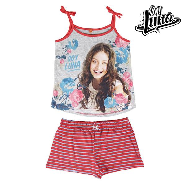 Pijama de Verano para Niñas Flowers Soy Luna