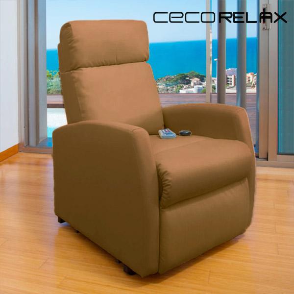 Sillón Relax Masajeador Cecorelax Compact Camel 6019