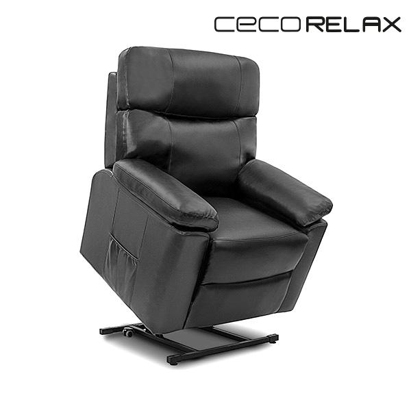 Sillón Relax Masajeador Levantapersonas Negro Cecorelax 6118