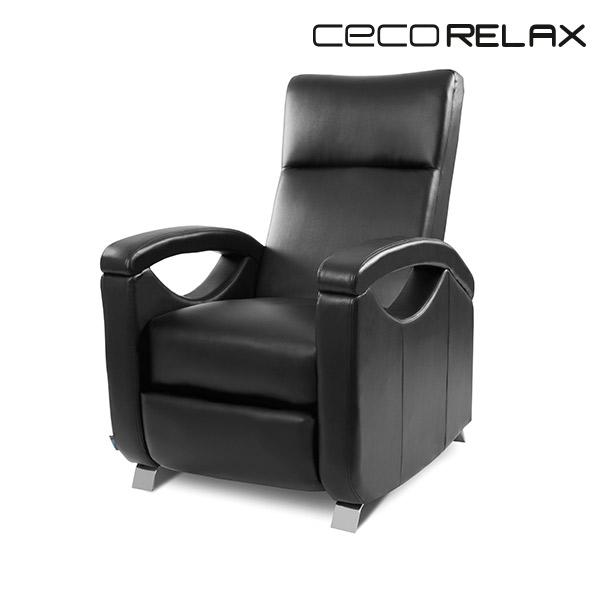 Sillón Relax Masajeador Push Back Negro Cecorelax 6025