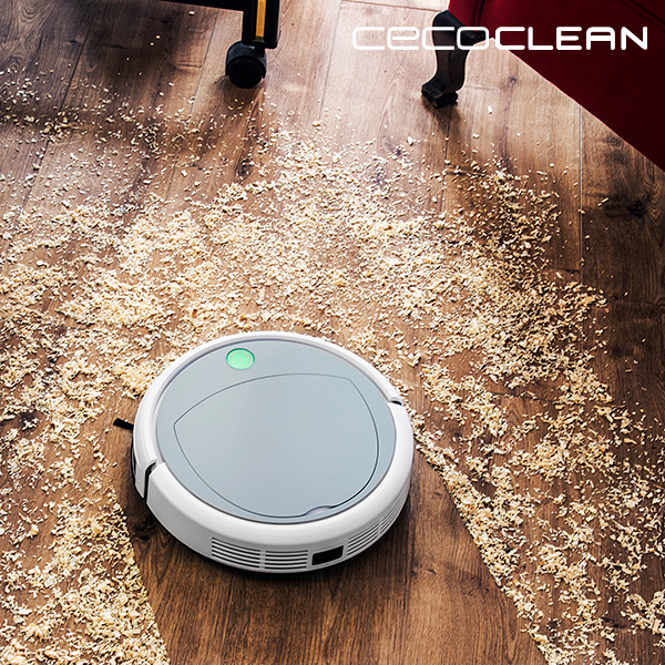 Robot Aspirador Cecoclean Slim 890 5041 0,3 L 11,1 V Blanco Gris