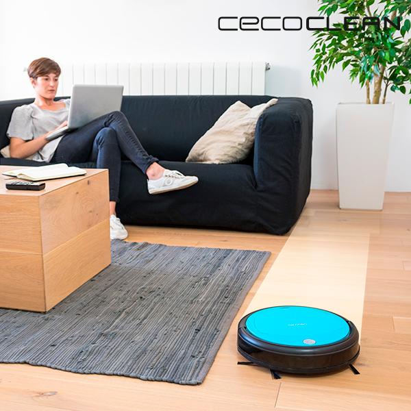 Robot Aspirador con Mopa y Depósito de Líquidos Cecoclean Slim Wet 5046 0,3 L 19 V Azul Negro