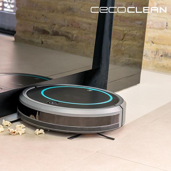 Robot Aspirador con Mopa y Depósito de Líquidos Cecoclean Wet 5048 0,3 L 11,1 V Gris Negro