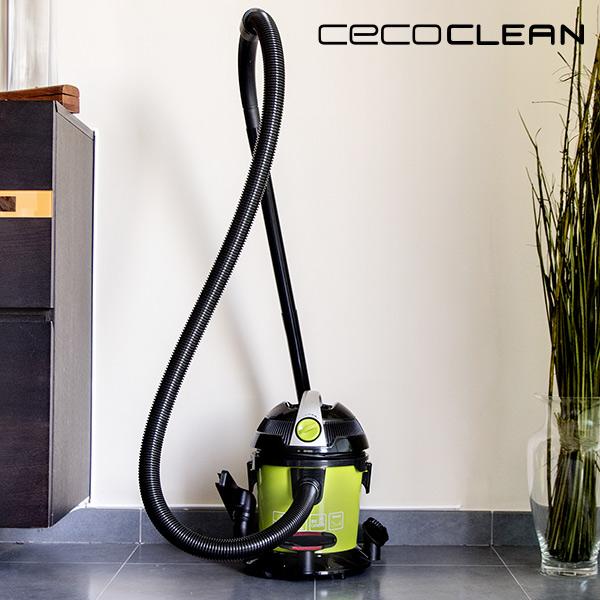 Aspirador de Sólidos y Líquidos Cecoclean Wet & Dry Easy 5033 10 L 1000W Negro Verde