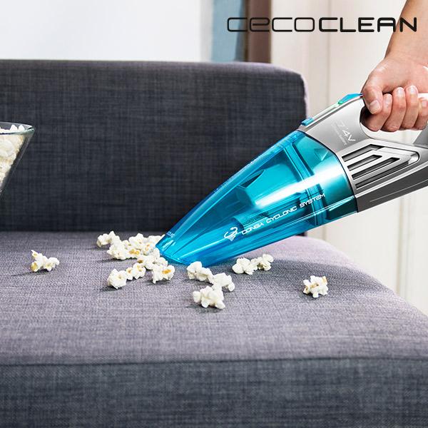 Aspiradora de Mano Ciclónica Cecoclean PowerHand Wet 5066 0,5 L 7,4 V Gris Azul