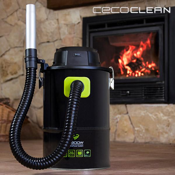 Aspirador de Cenizas Cecoclean PowerAsh 5084 20 L 1200W Negro Verde