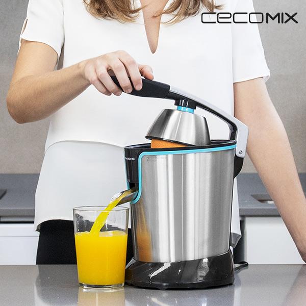 Spremiagrumi Elettrico con Leva Cecomix Adjust Black 4077 160W Acciaio