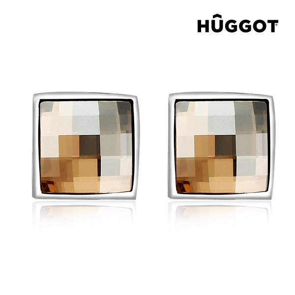 Uhani Autumn H?ggot, prevlečeni z rodijem, izdelani s kristali Swarovski®