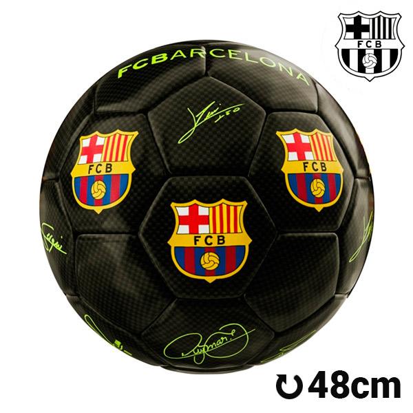 Balón de Fútbol Mediano Negro F.C. Barcelona