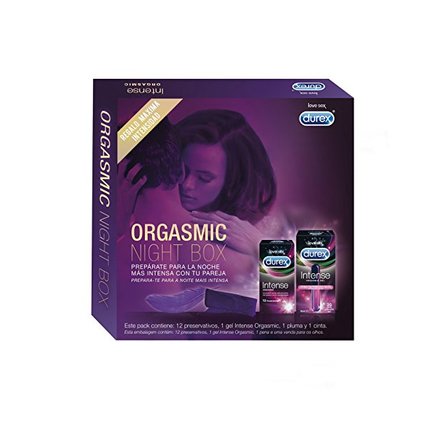 Preservativi e Gel Stimolante Durex Intense Orgasmic Night Box (12 unità)