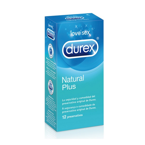 Preservativi Natural Plus Durex (12 Unit�)