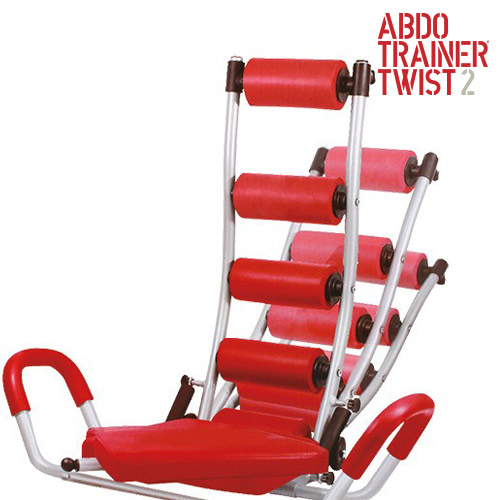 ABDO Trainer Twist Za Trebušne Mišice z Ekspanderji za Prsni Koš