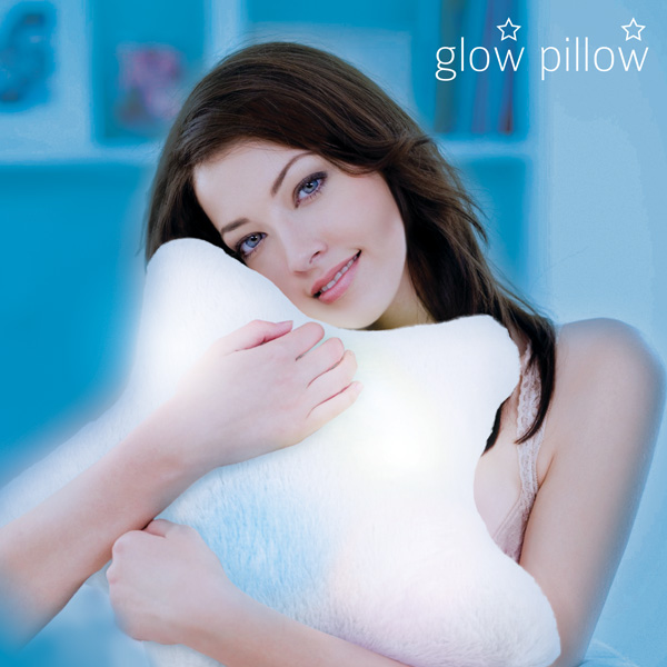 LED Blazina v Obliki Zvezde Glow Pillow