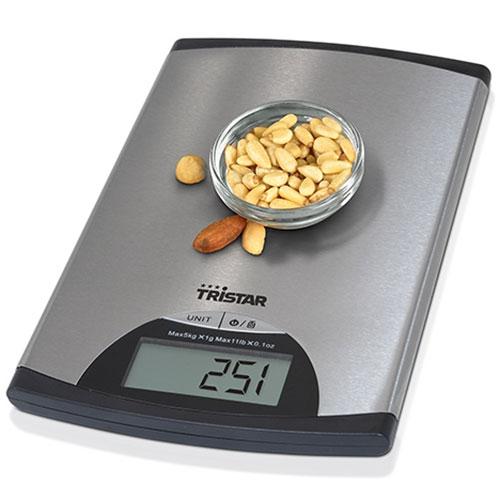 Báscula de Cocina Tristar KW2435 5 kg acero