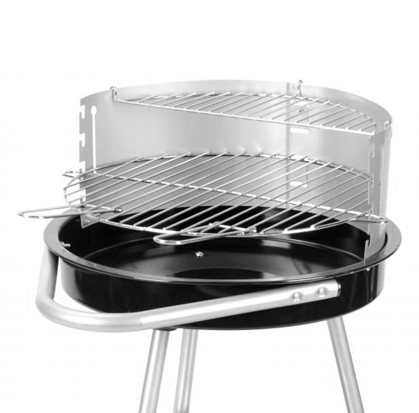 Barbacoa de Carbón con Ruedas y Parrilla Regulable BBQ Classics (3)