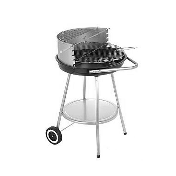 Barbacoa de Carbón con Ruedas y Parrilla Regulable BBQ Classics (1)