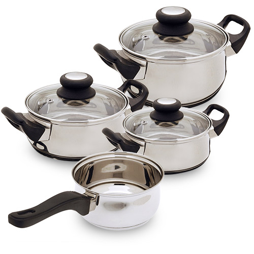 Batería de Cocina de Acero Inoxidable Bravissima Kitchen (7 piezas)