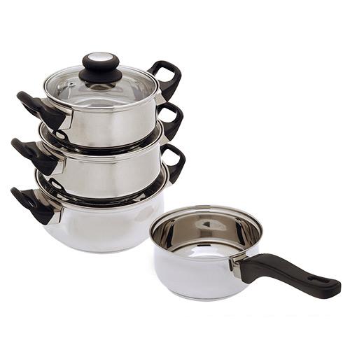 Batería de Cocina de Acero Inoxidable Bravissima Kitchen (7 piezas) (1)