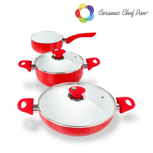 Batería de Cocina Ceramic Chef Pan (5 piezas) (1)