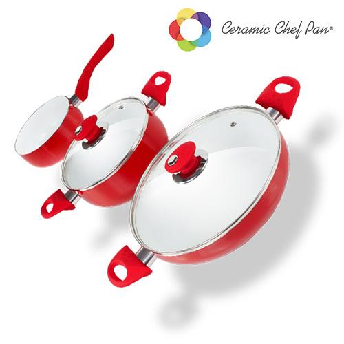 Batería de Cocina Ceramic Chef Pan (5 piezas) (2)
