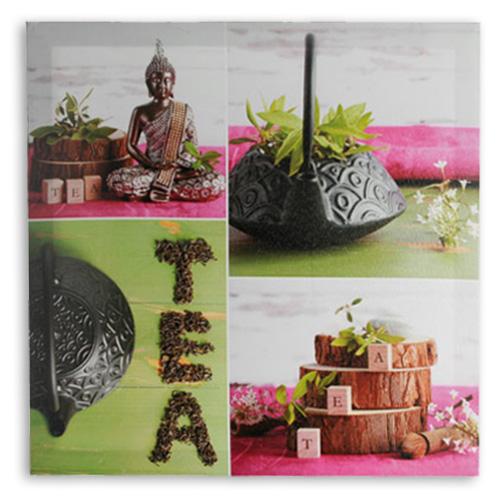 Buda Tea Slika na Platnu 50 x 50 - Zelena