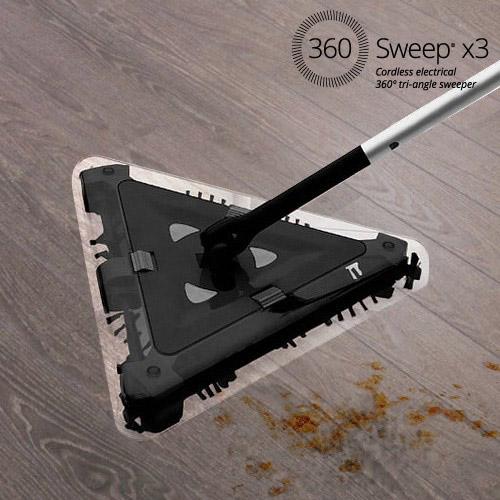 escoba eléctrica triangular Omnidomo 360 Sweep 7,2 V Negro