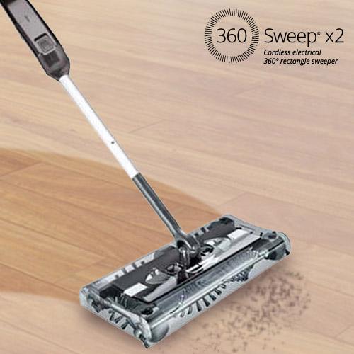 Escoba Eléctrica Rectangular Omnidomo 360 Sweep 7,2 V Negro