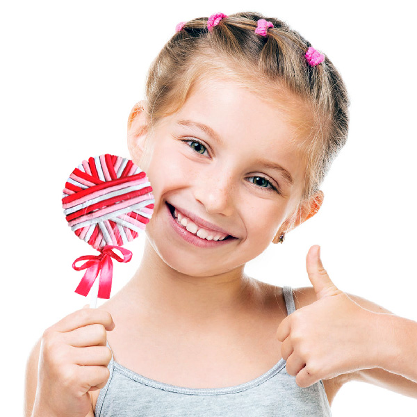 Gumijasti Trakovi Za Lase Lollipop (24 kosov)