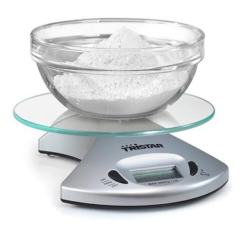 Báscula Digital de Cocina Tristar KW2431 5 kg Transparente