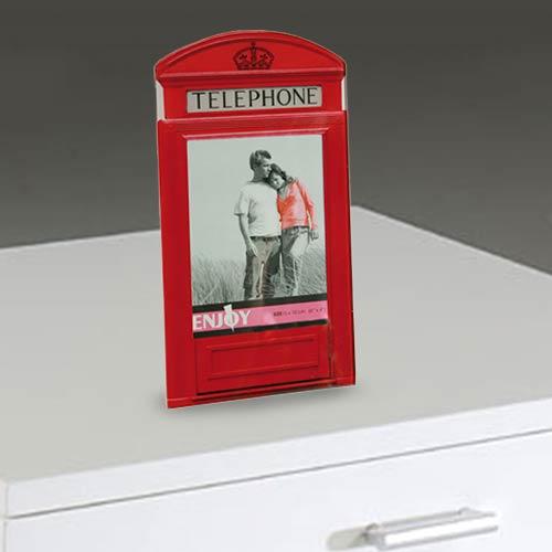 Stekleni Okvir za Fotografije Britanska Telefonska Govorilnica