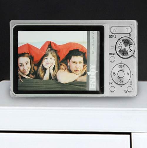 Stekleni Okvir za Fotografije Fotoaparat - Črna
