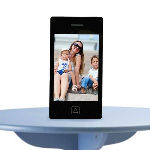 Stekleni Okvir za Fotografije Telefon - Črna