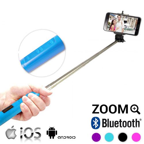 Bluetooth Palica za Selfie z Zoomom - Modra