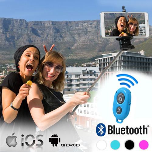 Palica za Selfie z Bluetooth Daljinskim Upravljalnikom - Črna