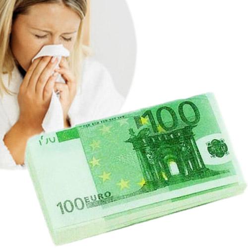 Robčki v Obliki Bankovca Za 100 Evrov