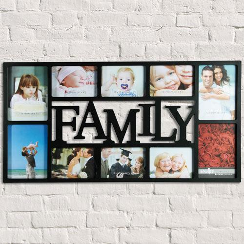 Family Okvir za Slike (10 Slik) - Črna