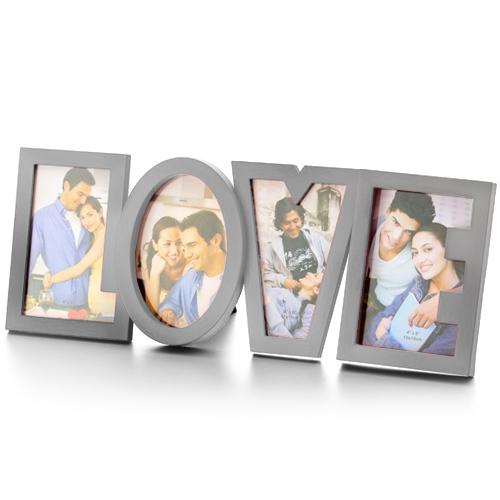 LOVE Romantičen Okvir za Fotografije Nerjaveče Jeklo
