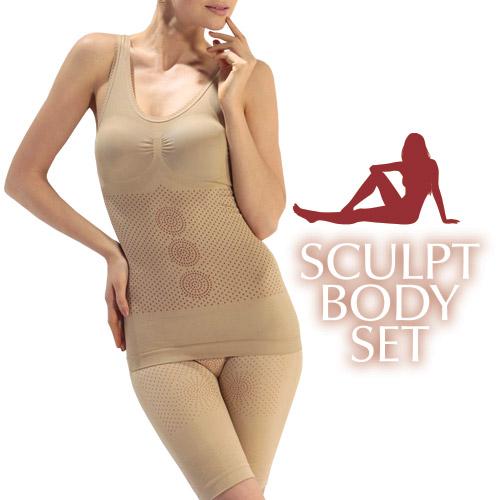 Sculpt Body Komplet Perila za Oblikovanje Postave (3 deli) - XL