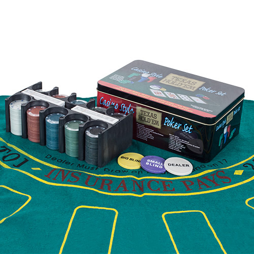 Žetoni za Poker - Komplet 200 figuric