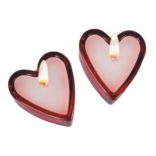 Dišeče Svečke v Obliki Srca (set 2)